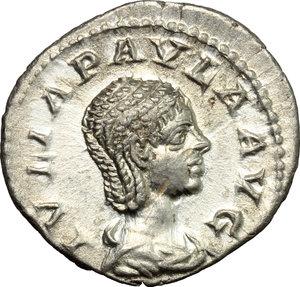 obverse: Iulia Paula, wife of Elagabalus (218-222).. AR Denarius, Antioch mint, c. 219-220 AD