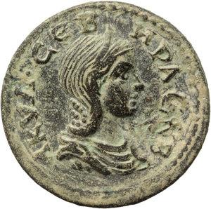 obverse: Aquilia Severa, second wife of Elagabalus (220-222). . AE 25 mm. Hierapolis mint, Phrygia