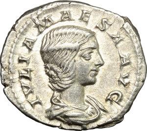 obverse: Julia Maesa, sister of Julia Domna (died 225 AD).. AR Denarius, 218-220 AD