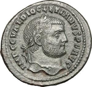 obverse: Diocletian (284-305).. AE Follis, Cyzicus mint