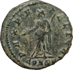 reverse: Helena, mother of Constantine I.. AE 15 mm. Constantinople mint. Commemorative issue