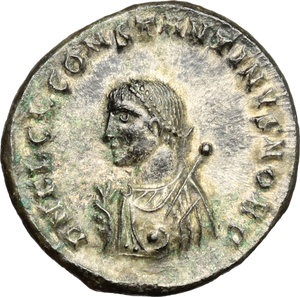 obverse: Constantine II as Caesar (317-337).. AE Follis, Cyzicus mint, 317-320 AD