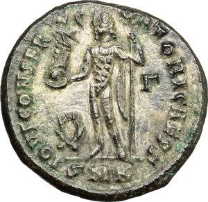 reverse: Constantine II as Caesar (317-337).. AE Follis, Cyzicus mint, 317-320 AD