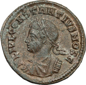 obverse: Constantius II as Caesar (324-337).. AE Follis, Nicomedia mint, 326-327 AD