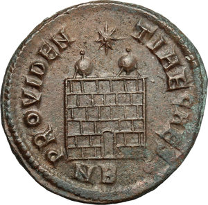 reverse: Constantius II as Caesar (324-337).. AE Follis, Nicomedia mint, 326-327 AD