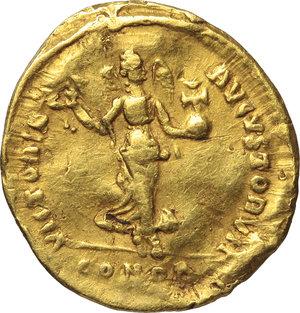 reverse: Arcadius (383-408).. AV Tremissis, 397-402 AD. Constantinople mint