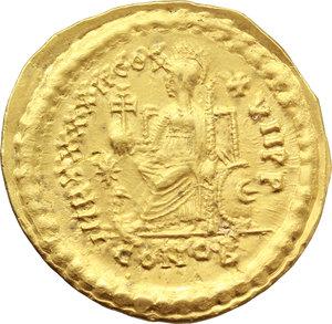 reverse: Theodosius II (402-450).. AV Solidus, 441-450. Constantinople mint