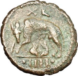 reverse: Ostrogothic Italy, Athalaric (526-534).. AE 40 Nummi (Follis), Rome mint