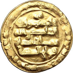 reverse: Buyid (Buwayhid).  Baha  al-Dawla Abu Nasr (379-403 H / 89-1012 AD). AV Dinar,  Suq al-Ahwaz mint