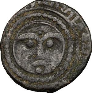 obverse: Artuqids of Mardin.  Najm al Din Ghazi II (693-71 H /1294-1312 AD).. AE Fals