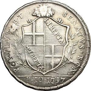 obverse: Bologna.  Governo Popolare (1796-1797).. Scudo 1797
