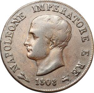 obverse: Bologna.  Napoleone (1805-1814). Soldo 1808 B