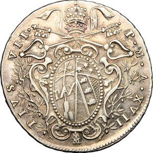 obverse: Bologna.  Pio VII (1800-1823). Doppio giulio 1818 (8 ribattuto su 6)