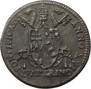obverse: Bologna.  Pio VII (1814-1823). Quattrino 1816 A. XVI