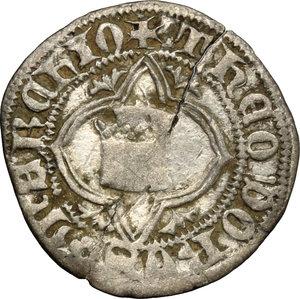 obverse: Chivasso.  Teodoro II Paleologo (1381-1418).. Quarto di grosso