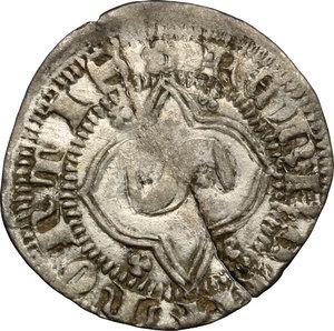reverse: Chivasso.  Teodoro II Paleologo (1381-1418).. Quarto di grosso