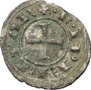 obverse: Messina. Federico II (1197-1250).  Mezzo denaro 1221