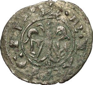 reverse: Messina. Federico II (1197-1250).  Mezzo denaro 1221