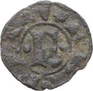 obverse: Ferrara.  Obizzo III d Este (1344-1352). Denaro o ferrarino