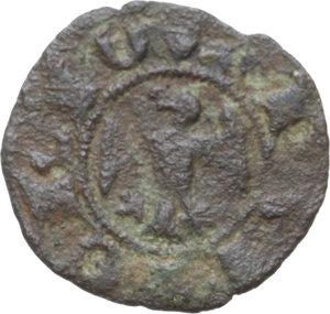 reverse: Ferrara.  Obizzo III d Este (1344-1352). Denaro o ferrarino