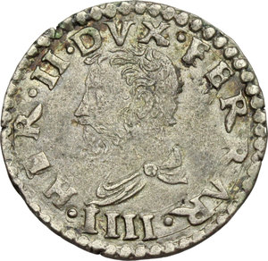 obverse: Ferrara.  Ercole II d Este (1534-1559).. Muraiola