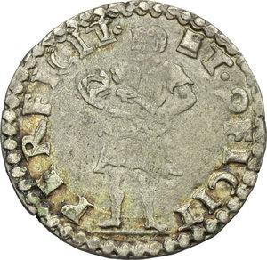 reverse: Ferrara.  Ercole II d Este (1534-1559).. Muraiola
