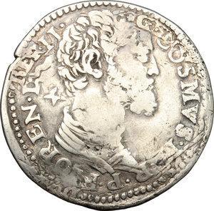 obverse: Firenze.  Cosimo I de  Medici (1537-1574). Stellino 1554