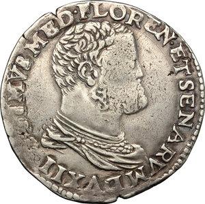 obverse: Firenze.  Cosimo I de  Medici (1537-1574). Testone II serie