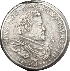 obverse: Firenze.  Ferdinando I de Medici (1587-1609). Piastra 1604