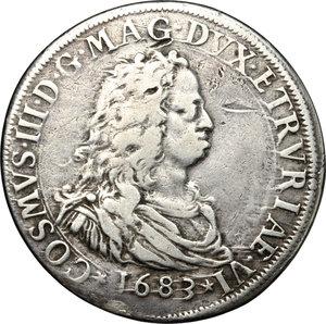 obverse: Firenze.  Cosimo III (1670-1723).. Piastra 1683