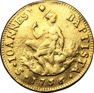 reverse: Firenze.  Francesco II (1737-1765). Ruspone 1756