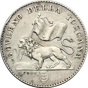 obverse: Firenze.  Governo della Toscana (1859). Fiorino 1859