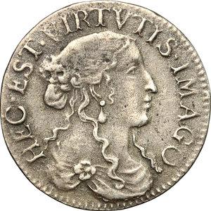 obverse: Fosdinovo.  Maria Maddalena Centurioni Malaspina (1663-1669). Luigino 1666