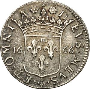 reverse: Fosdinovo.  Maria Maddalena Centurioni Malaspina (1663-1669). Luigino 1666