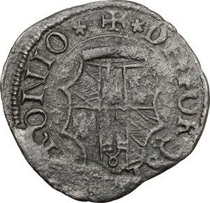 reverse: Fossombrone.  Guidobaldo I di Montefeltro (1482-1508). Quattrino