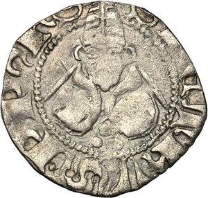 reverse: L Aquila.  Ladislao di Durazzo (1388-1414). Bolognino
