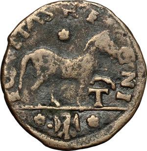 reverse: L Aquila.  Ferdinando I d Aragona (1458-1494). Cavallo