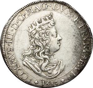 obverse: Livorno.  Cosimo III de  Medici (1670-1723). Tollero 1680