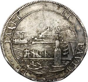 reverse: Livorno.  Cosimo III de  Medici (1670-1723). Tollero 1680