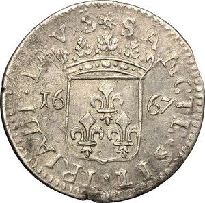 reverse: Loano.  Violante Doria Lomellini (vedova di Andrea III, reggente, (1654-1671) . Luigino 1667
