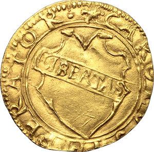 obverse: Lucca.  Repubblica (1369-1799).. Scudo d oro del sole, XVI sec