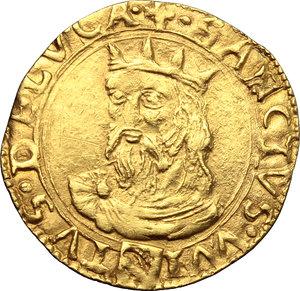 reverse: Lucca.  Repubblica (1369-1799).. Scudo d oro del sole, XVI sec