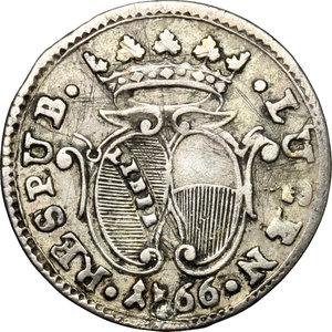 obverse: Lucca.  Repubblica (1369-1799).. Mezzo grosso 1766