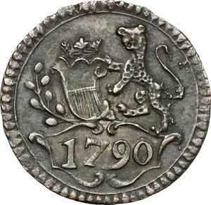 reverse: Lucca.  Repubblica (1369-1799).. Bolognino 1790