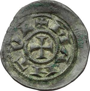 reverse: Mantova.  Comune (1150-1256). Denaro scodellato