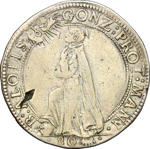 reverse: Mantova.  Carlo I Gonzaga Nevers (1627-1637).. Mezzo ducatone