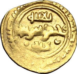 obverse: Messina.  Ruggero I  (1072-1101) . Tarì con T accostata da globetti