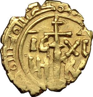 reverse: Messina.  Ruggero II, Duca Normanno (1105-1154), emissioni con il titolo di Re (1140-1154). Tarì