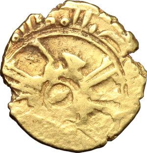 obverse: Messina.  Ruggero II, Duca Normanno (1105-1154), emissioni con il titolo di Re (1140-1154). Tarì
