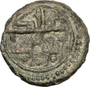 reverse: Messina.  Tancredi (1190-1194). Follaro